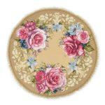 Гобеленовая салфетка вальс цветов