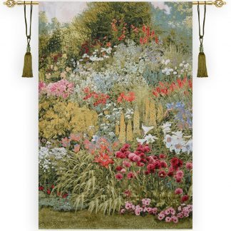 Гобелен лилии сепия_200х134