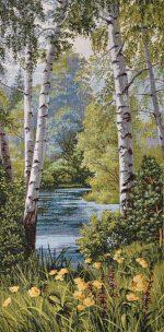 Купить картину летний пейзаж с берёзами