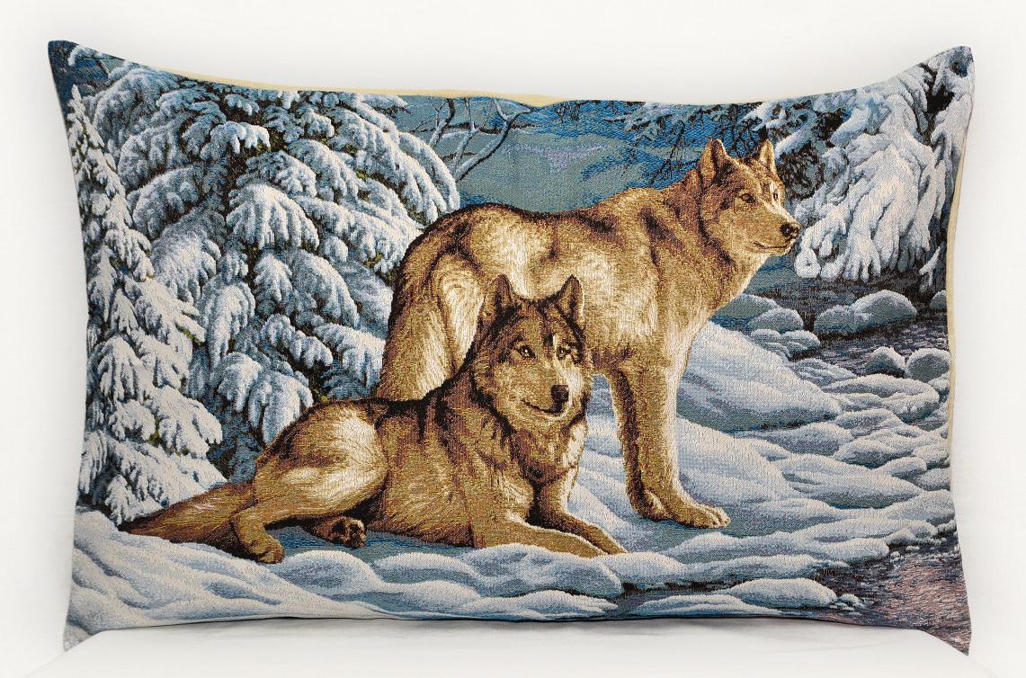 Гобелен серые волки