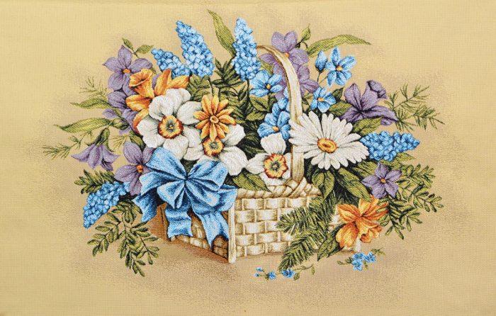 Купить гобелен корзина с цветами