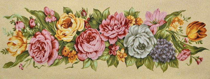 Купить гобелен цветочная композиция пионы