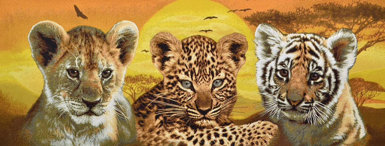 Гобелен дикие кошки