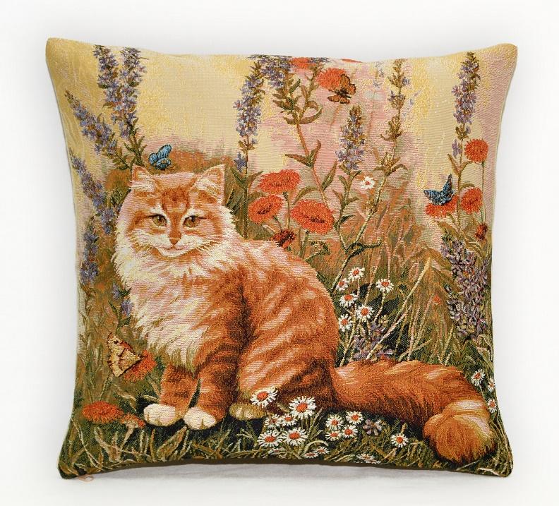 Гобелен рыжий кот