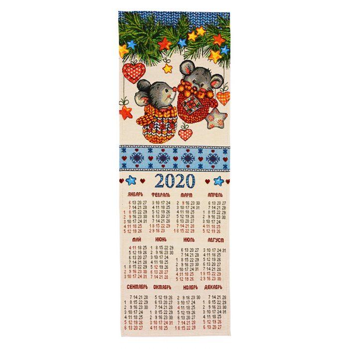 Календарь гобеленовый варежки