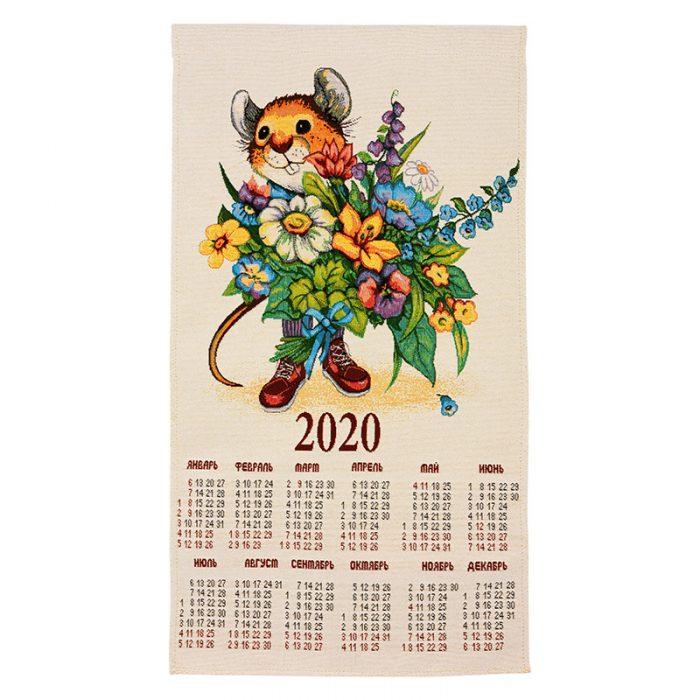 Календарь гобелен букет