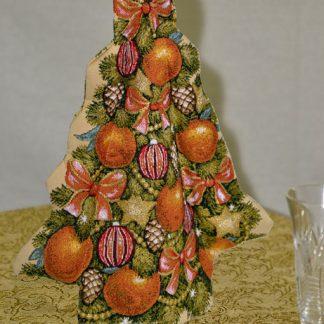 Гобелен чехол на бутылку Апельсиновая ёлка