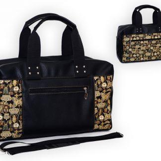 Гобеленовая сумка спорт короны и бабочки на тем 47х27х16