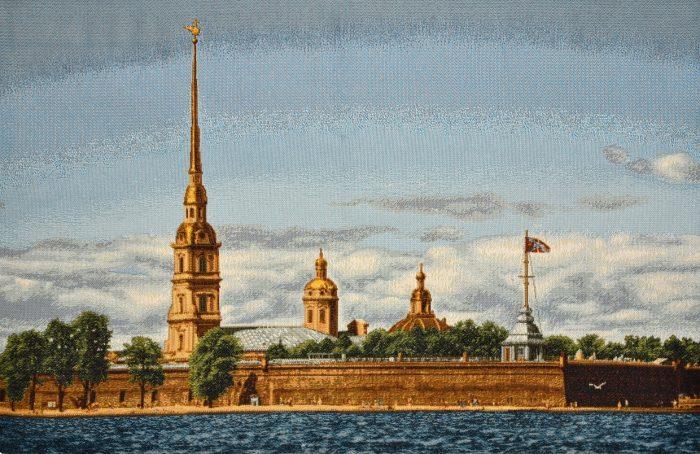 Гобелен картина СПб петропавловская крепость
