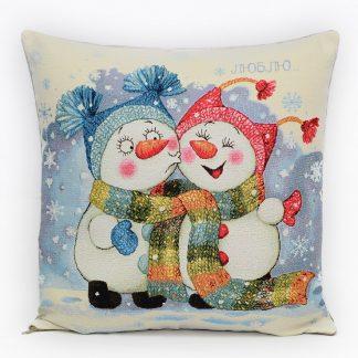 Гобелен снеговички первый поцелуй