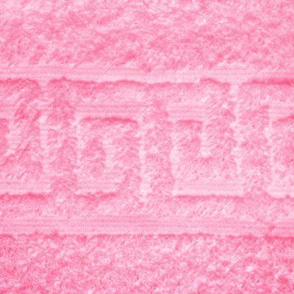 Розовое полотенце махра