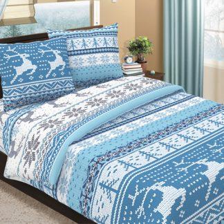Комплект постельного белья бязь аляска голубой