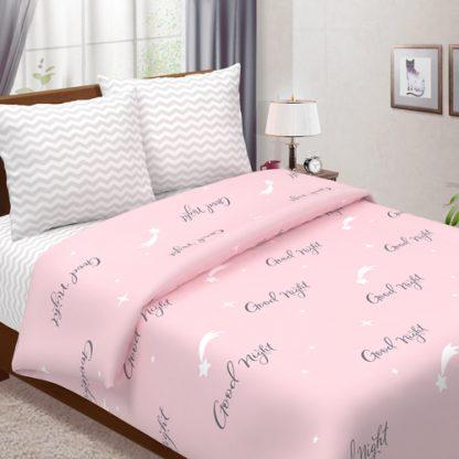 Комплект постельного белья бязь гуд найт розовый