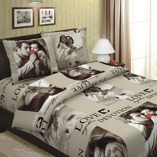 Комплект постельного белья бязь сладкая парочка беж