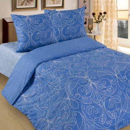 Комплект постельного белья бязь жемчужина голубая