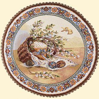 Салфетка гобеленовая верба круг