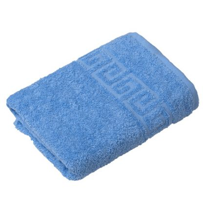 полотенце махровое голубое