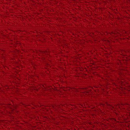 полотенце махровое красный
