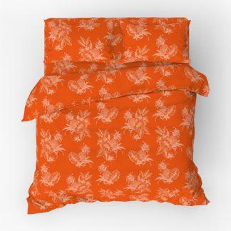 Комплект постельного белья поплин ананасы красный