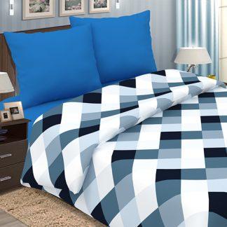 Комплект постельного белья поплин арманд синий