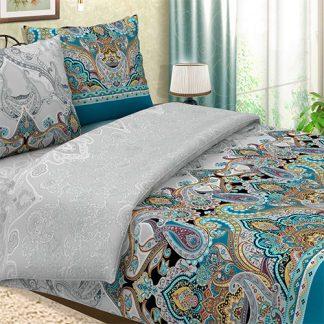 Купить комплект постельного белья поплин волшебная ночь синий