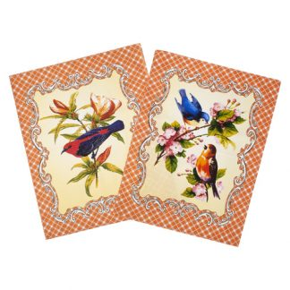 птицы персик вафельное полотенце