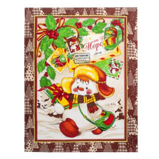 нов год коричневый полотенце вафельное для кухни